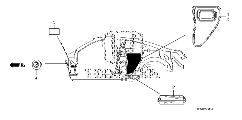 2010 accord EX-L(NAVI) 2 DOOR 5MT GROMMET (SIDE) diagram