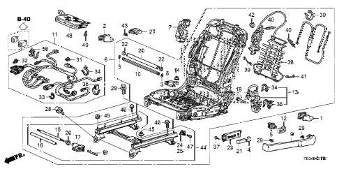 2008 accord EX-L(NAVI) 2 DOOR 5MT FRONT SEAT COMPONENTS (L.) (POWER HEIGHT) diagram
