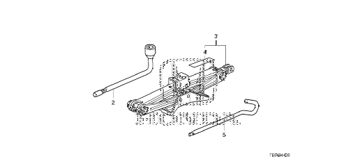 2010 accord LX-S 2 DOOR 5MT TOOLS - JACK diagram