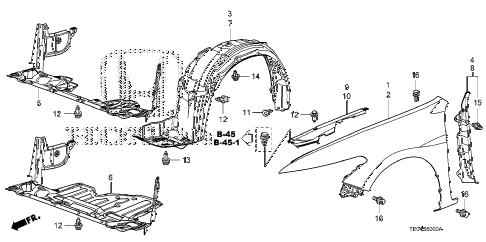 2010 accord EXL-V6 2 DOOR 6MT FRONT FENDERS diagram