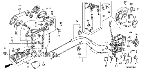 2010 accord EX 2 DOOR 5MT DOOR LOCKS - OUTER HANDLE diagram