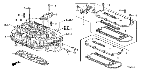 2011 accord EXL-V6(NAVI) 2 DOOR 6MT INTAKE MANIFOLD (V6) diagram