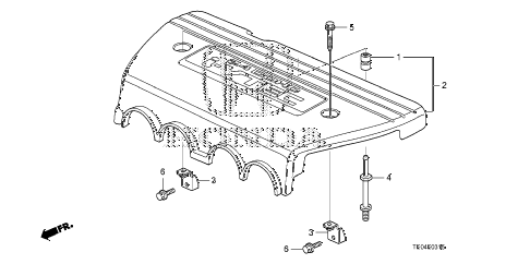 2008 accord EX-L(NAVI) 2 DOOR 5MT ENGINE COVER (L4) diagram
