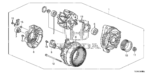 2010 accord EX 2 DOOR 5MT ALTERNATOR (DENSO) (L4) diagram