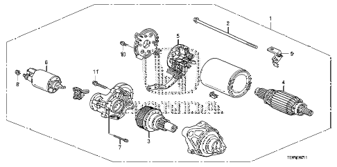 2011 accord EXL-V6(NAVI) 2 DOOR 6MT STARTER MOTOR (MITSUBA) (V6) (MT) diagram