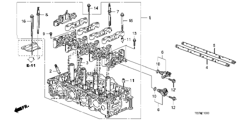 2008 accord EX 2 DOOR 5MT CYLINDER HEAD (L4) diagram