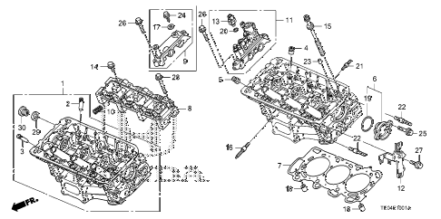 2010 accord EXL-V6 2 DOOR 6MT FRONT CYLINDER HEAD (V6) diagram