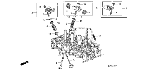 2010 accord EX-L(NAVI) 2 DOOR 5MT VALVE - ROCKER ARM (L4) diagram