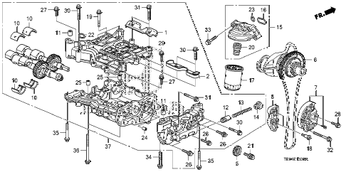 2010 accord EX 2 DOOR 5MT OIL PUMP (L4) diagram