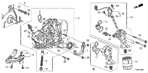 2009 accord EXL-V6 2 DOOR 6MT OIL PUMP (V6) diagram