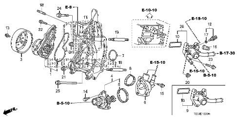 2011 accord LX-S 2 DOOR 5MT WATER PUMP (L4) diagram