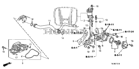 2011 accord EXL-V6 2 DOOR 6MT WATER PUMP (V6) diagram