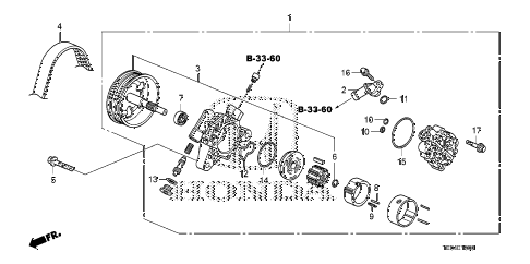 2009 accord EX-L 2 DOOR 5MT P.S. PUMP (L4) diagram