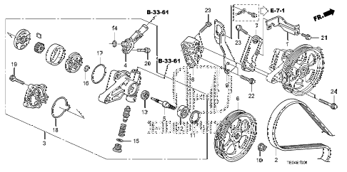 2009 accord EXL-V6 2 DOOR 6MT P.S. PUMP - BRACKET (V6) diagram