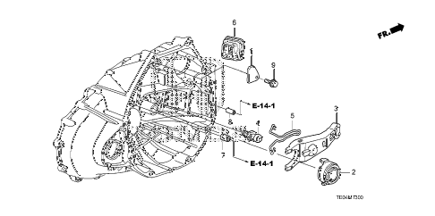 2008 accord EXL-V6(NAVI) 2 DOOR 6MT MT CLUTCH RELEASE (V6) diagram