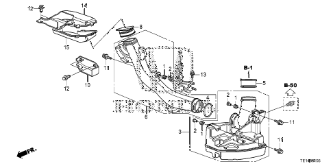 2012 accord LX-S 2 DOOR 5MT RESONATOR CHAMBER (L4) diagram