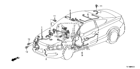 2012 accord LX-S 2 DOOR 5MT WIRE HARNESS (3) diagram