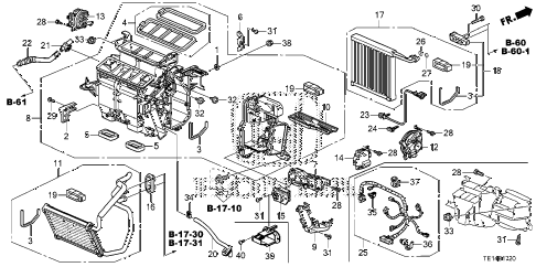 2012 accord LX-S 2 DOOR 5MT HEATER UNIT diagram