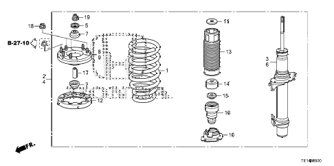 2012 accord LX-S 2 DOOR 5MT FRONT SHOCK ABSORBER diagram