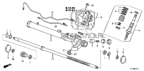 2012 accord LX-S 2 DOOR 5MT P.S. GEAR BOX COMPONENTS diagram