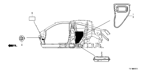 2012 accord LX-S 2 DOOR 5MT GROMMET (SIDE) diagram