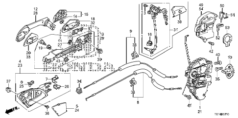 2012 accord LX-S 2 DOOR 5MT DOOR LOCKS - OUTER HANDLE diagram