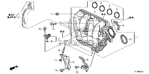 2012 accord LX-S 2 DOOR 5MT INTAKE MANIFOLD (L4) diagram