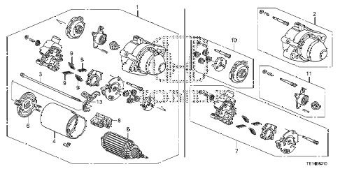 2012 accord LX-S 2 DOOR 5MT STARTER MOTOR (MITSUBA) (L4) diagram