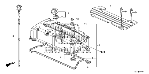 2012 accord LX-S 2 DOOR 5MT CYLINDER HEAD COVER (L4) diagram