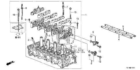2012 accord LX-S 2 DOOR 5MT CYLINDER HEAD (L4) diagram