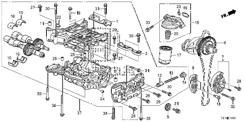 2012 accord LX-S 2 DOOR 5MT OIL PUMP (L4) diagram