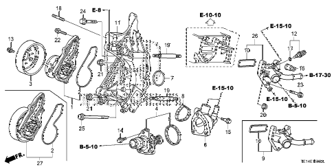 2012 accord LX-S 2 DOOR 5MT WATER PUMP (L4) diagram