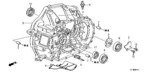 2012 accord LX-S 2 DOOR 5MT MT CLUTCH CASE (L4) diagram