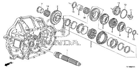 2012 accord LX-S 2 DOOR 5MT MT COUNTERSHAFT (L4) diagram