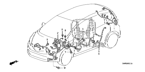 2010 fit SPORTN(SUZUKA PLANT) 5 DOOR 5MT WIRE HARNESS (2) diagram