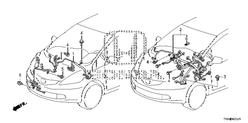 2012 fit FIT(SAYAMA PLANT) 5 DOOR 5MT WIRE HARNESS (3) diagram