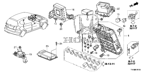 2010 fit SPORTN(NV,SUZUKA PLAN 5 DOOR 5MT CONTROL UNIT (CABIN) (1) diagram