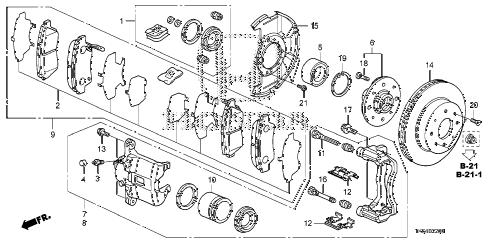 2010 fit SPORTN(NV,SAYAMA PLAN 5 DOOR 5MT FRONT BRAKE diagram