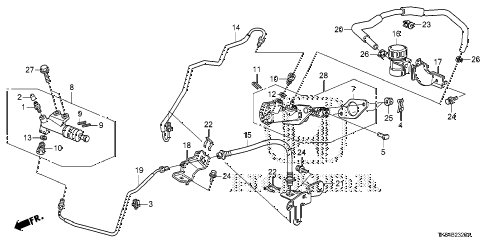 2009 fit SPORTN(SAYAMA PLANT) 5 DOOR 5MT CLUTCH MASTER CYLINDER diagram