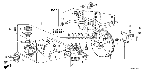2010 fit SPORTN(NV,SUZUKA PLAN 5 DOOR 5MT BRAKE MASTER CYLINDER  - MASTER POWER diagram