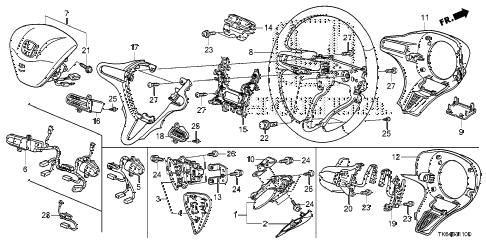 2010 fit SPORT(SUZUKA PLANT) 5 DOOR 5MT STEERING WHEEL (SRS) diagram