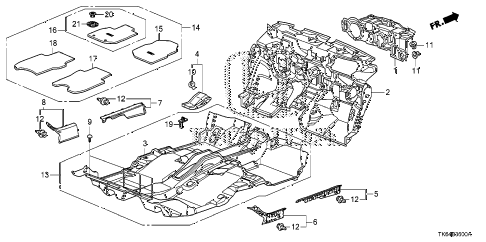 2009 fit SPORT(SUZUKA PLANT) 5 DOOR 5MT FLOOR MAT diagram