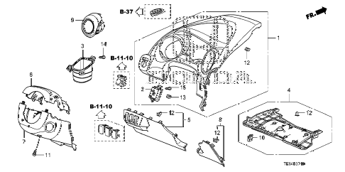 2010 fit SPORT(SUZUKA PLANT) 5 DOOR 5MT INSTRUMENT PANEL GARNISH (DRIVER SIDE) diagram