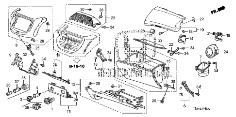 2010 fit FIT(SAYAMA PLANT) 5 DOOR 5MT INSTRUMENT PANEL GARNISH (PASSENGER SIDE) diagram