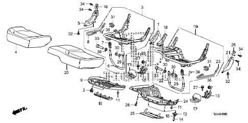 2010 fit SPORTN(SUZUKA PLANT) 5 DOOR 5MT REAR SEAT CUSHION diagram