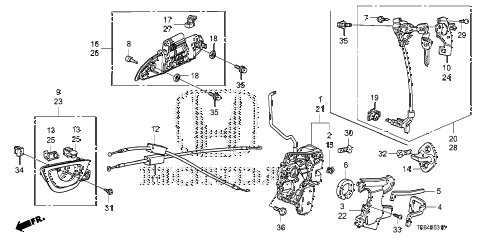 2010 fit SPORTN(NV,SUZUKA PLAN 5 DOOR 5MT FRONT DOOR LOCKS - OUTER HANDLE diagram