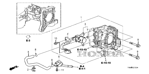 2010 fit SPORTN(NV,SUZUKA PLAN 5 DOOR 5MT THROTTLE BODY diagram