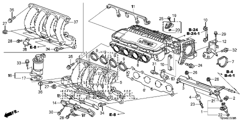 2010 fit SPORT(SUZUKA PLANT) 5 DOOR 5MT INTAKE MANIFOLD diagram