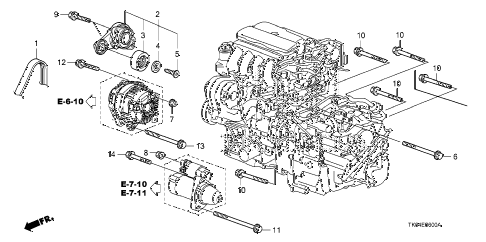 2010 fit SPORTN(SUZUKA PLANT) 5 DOOR 5MT AUTO TENSIONER diagram
