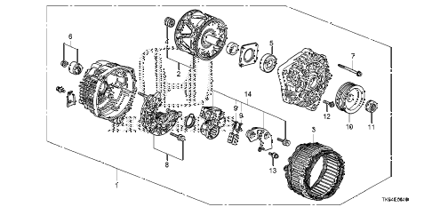 2010 fit SPORT(SUZUKA PLANT) 5 DOOR 5MT ALTERNATOR (MITSUBISHI) diagram